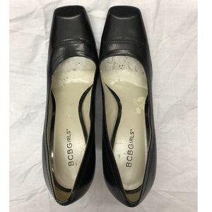 Black Square Toe Heels